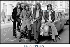 4x6 SIGNED AUTOGRAPH PHOTO REPRINT of LED ZEPPELIN