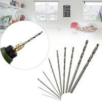 10Pcs HSS High Speed Steel Twist Drill Bit Set For Dremel Rotary Tool Silver