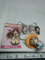5pc Clannad figure keychain strap charm anime Japan kawaii lot