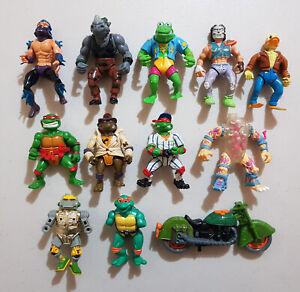 TMNT Vintage Original Action Figure Lot x11 80's 90's Playmates Shredder Casey