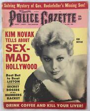 Feb 1963 Police Gazette Magazine Actress Kim Novak Sex Mad Hollywood