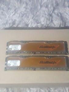 Vintage Crucial Ballistix DDR2  PC2-5300 667MHz 240-Pin Non-ECC