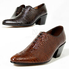 NewStylish Mens Crocodile patterned leather high heel shoes