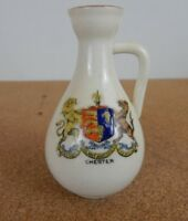 Crested Ware Ewer Chester Coat of Arms 8cm tall
