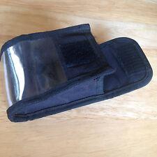 Black Protective Bag/Pouch/Case w Belt Clip-Clear,Velcro Flap,Camera/Accessories