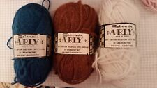 Spinnerin Arly France Acrylic/Mohair blue, white, and brown 3 50 gram balls!