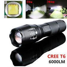 6000LM CREE T6 LED Flashlight 5 Mode Zoomable Waterproof Torch Outdoor Home Tool