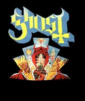 GHOST cd lgo DEVIL WINDOW Official Black SHIRT Size XL new