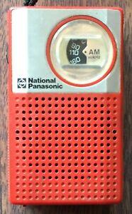 Operation confirmed national Panasonic 1977 R-1018AM retro transistor radio F/S