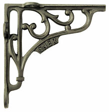 "Single 6"" / 15cm Cast Iron GNER Railway Shelf Bracket – antique decorative style"