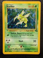 Scyther 10/64 Jungle Holo Rare Near Vintage Pokémon Card WOTC   V Good