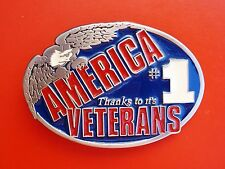 it's Veterans Belt Buckle America #1 Thanks to