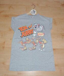 BNWT Primark ladies Warner TOM AND JERRY cartoon grey t-shirt - various sizes