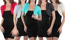 FashionCatch Women's Short Sleeve Bolero