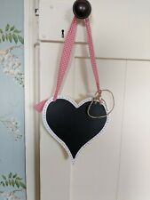 Heart Shaped Chalkboard White and Red Gingham (New)