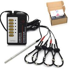 Electro Electric Shock Host electro stimulation Four Penis rings e-Stim Set