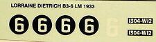 decals 1/43: Lorraine Dietrich Le Mans 1933 N°9