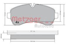Bremsbelagsatz, Scheibenbremse für Bremsanlage Vorderachse METZGER 1170521