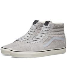 Men's Size 10 VANS Athletic Skate Shoes Sneakers Sk8-Hi Gray Hair Suede