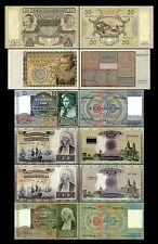 2x 10 - 50 niederländische Gulden - Ausgabe 1939 - 1943 - 12 alte Banknoten - 09