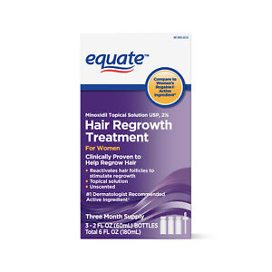 Minoxidil 2% Topical Solution Hair Regrowth Treatment For Women 3 Month Supply
