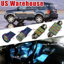 14-pc Aqua Ice Blue LED Interior Lights Package Map Kit For 09-2015 Honda Pilot