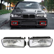 1 Pair Car Front Driving Fog Lights Clear Lens LED Bulbs For BMW E36 1992-1998