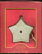 Lenox Porcelain Star Shaped Ornament with Gold Color Trim & Tassel New Box Wear