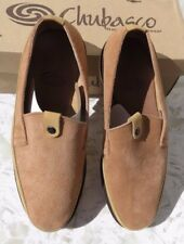 Chubasco Hand Made Men's Beige Slip On Shoes - Natural Leather NEW!  SIZE 9