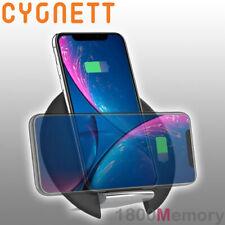 Cygnett Prime 10W Qi Wireless Desk Charger Pad Black for Apple Samsung LG Sony