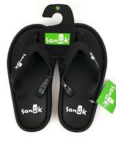 Sanuk SIDEWALKER Flip Flops Casual Sandals 1095551 BLACK Multi Size Unisex