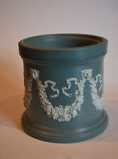 Victorian Dudson Jasperware Pot - Lions and Grapevine Applied Sprigging #2005