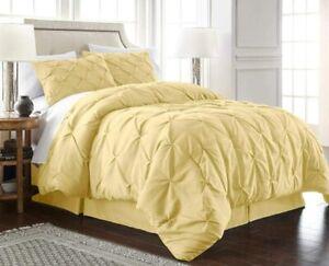 Chezmoi Collection Berlin 2-Piece Pintuck Pinch Pleat Bedding Comforter Set (Twi