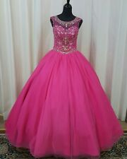 NEW Princess by Mary's XV Sweet 16 Quinceanera Dress 4Q439 Fuchsia Gold Size 10