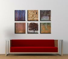 TIME4ART GUSTAV KLIMT CANVAS TREE BIRCH PRINT GICLEE SET 6 PCS 12''x12'' inch