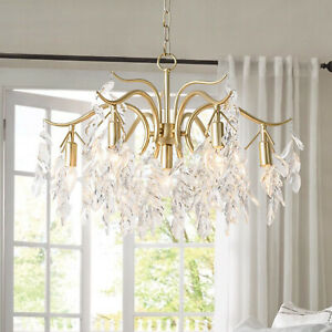 Modern Crystal Chandelier Lighting Hanging Lamp Ceiling Pendant Light Fixture