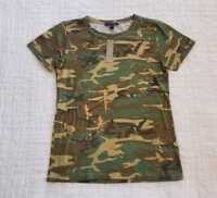 NEW WOMEN'S XXS XS S M L XL J CREW CAMO T-SHIRT IN SPICED CHARTREUSE / GOLD
