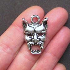 SALE 3 Devil Charms Antique Silver Tone - SC1406