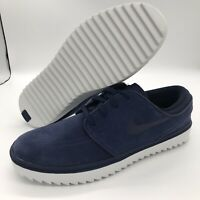 Nike Stefan Janoski G Golf Shoes Mens Size Navy Suede Waterproof AT4967-400 NEW