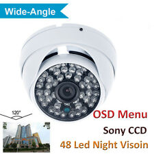 SONY CCD 700TVL 2.1mm lens OSD Menu Color Day Waterproof CCTV Vandal Dome Camera