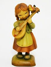 """Vintage Limited Edition Anri 'Melody for Two' Large 7"""" Figurine Playing Mandolin"""