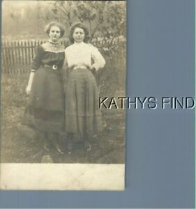 REAL PHOTO RPPC A+2136 PRETTY WOMEN IN DRESSES POSED