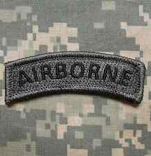 AIRBORNE TAB TACTICAL ARMY MORALE ROCKER ACU DARK VELCRO® BRAND FASTENER PATCH