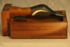 """Vtg Duck Canada Goose Nutcracker Box Solid Wood 10"""" X 6"""" Made in Philippines"""