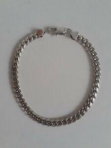 Mens Sterling Silver Curb Link Bracelet