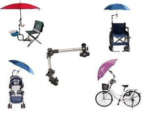 Schirmhalter für Fahrrad / Rollstuhl / Rollator / Kinderwagen / Angeln / Golf