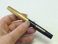 VINTAGE 1940's Watermans Fountain Pen Taperite Stateleigh Gold Tone Cap