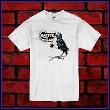 New T-shirt Grateful Dead Crow Vintage Men's White Size S-2XL
