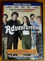 Adventureland (DVD, 2009, Canadian) Ryan Reynolds Kristen Stewart Movie Film !!!