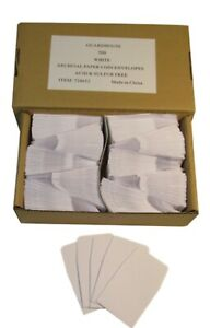 Guardhouse White Archival Paper Coin Envelopes, 2x2, 100 pack